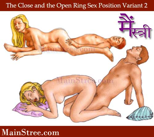 Close and the open ring sex position Variant 1